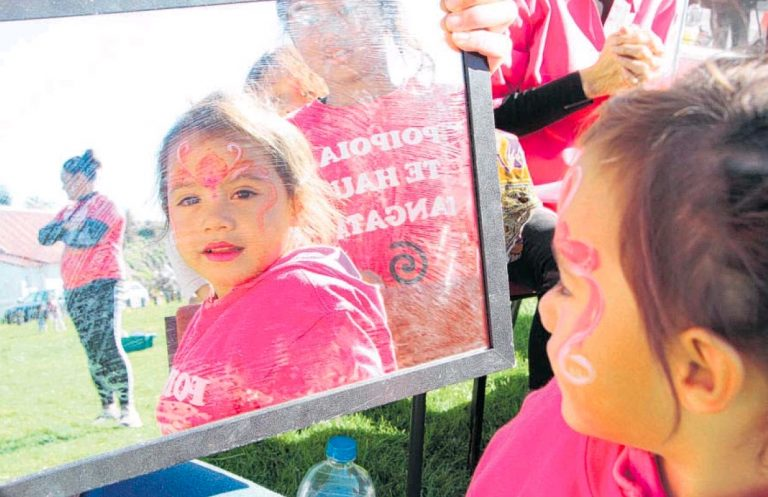 Maketu in pink for inclusive message